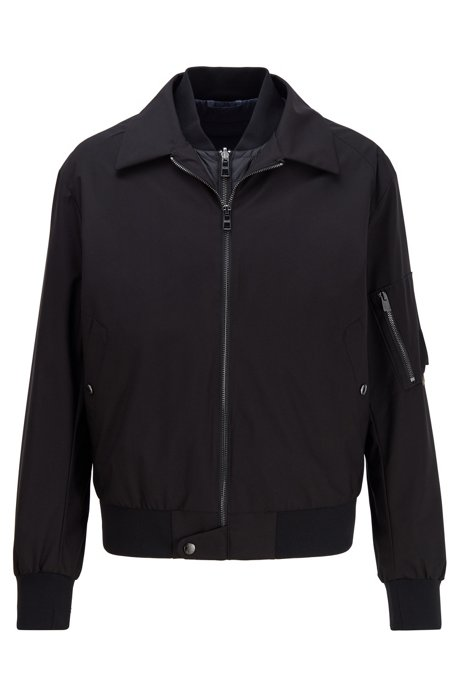 3-in-1 bomber jacket with reversible padded undershirt, Black