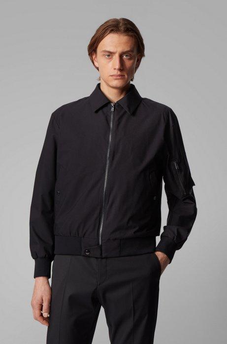 3-in-1 bomber jacket with reversible padded undershirt, Black