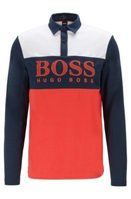 hugo boss long sleeve polo
