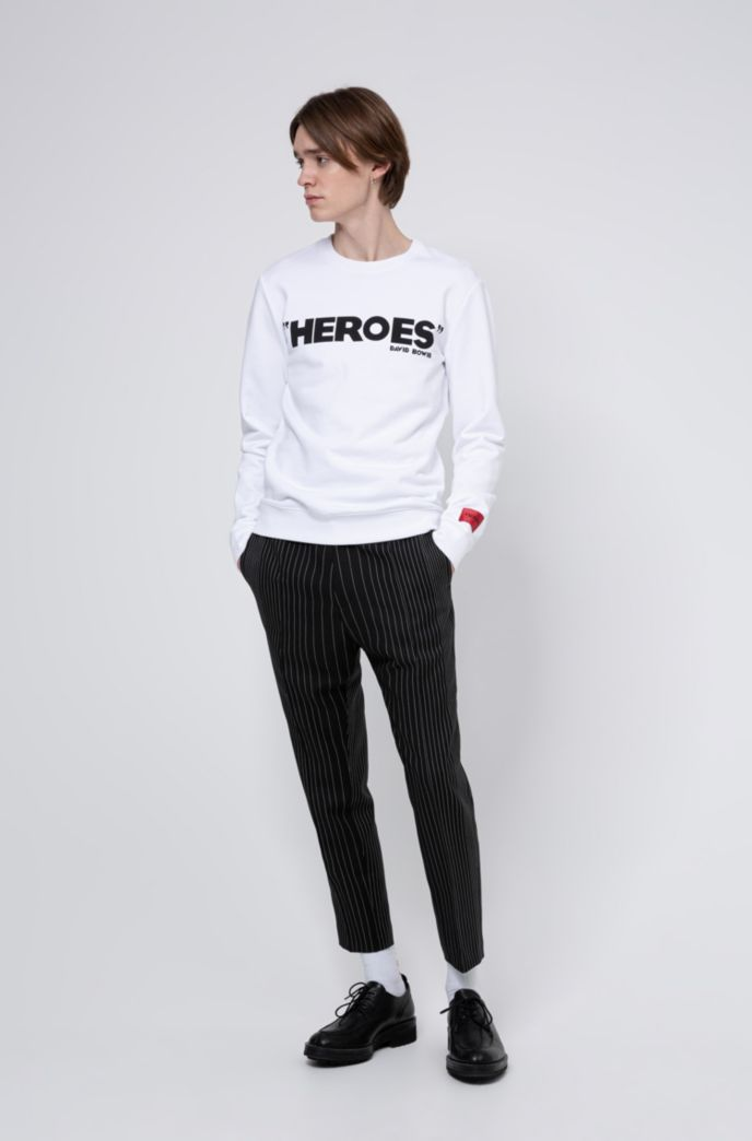French-terry cotton sweatshirt with iconic print