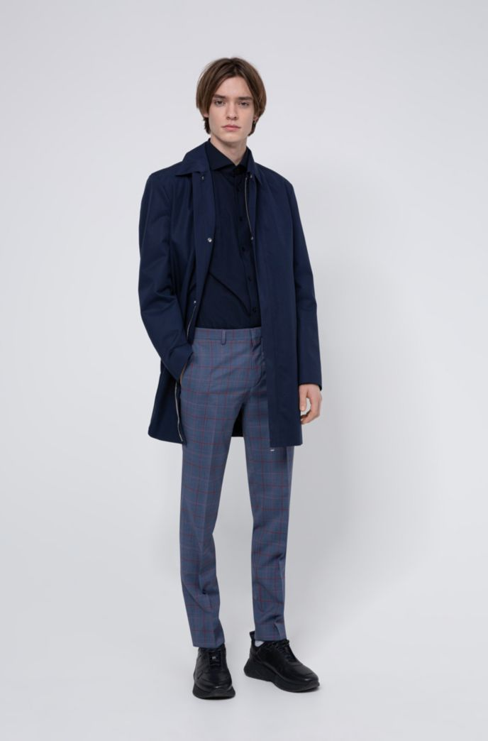 Extra-slim-fit pants in a Glen-check wool blend