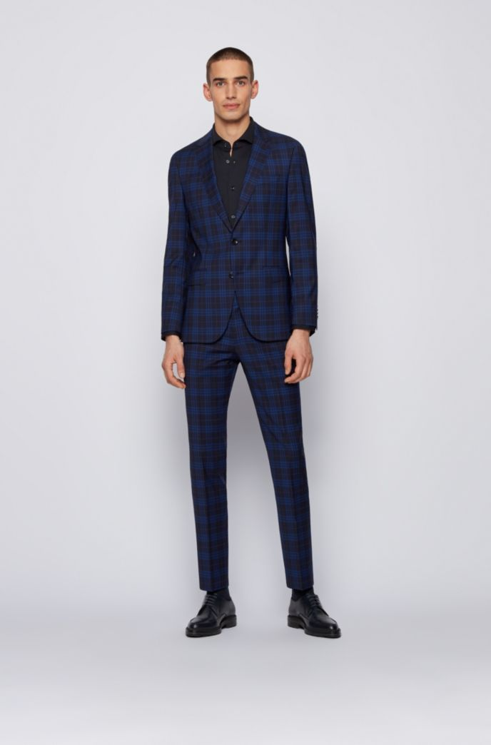 Slim-fit shirt in performance-stretch micro-dobby fabric