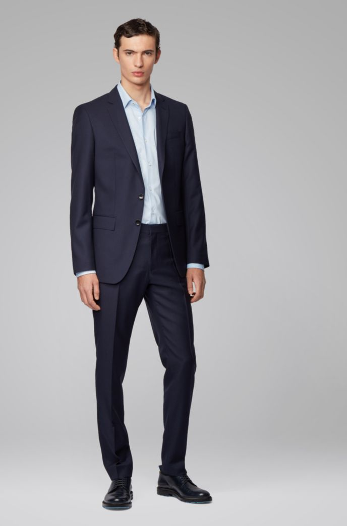 Regular-fit shirt in easy-iron Austrian cotton
