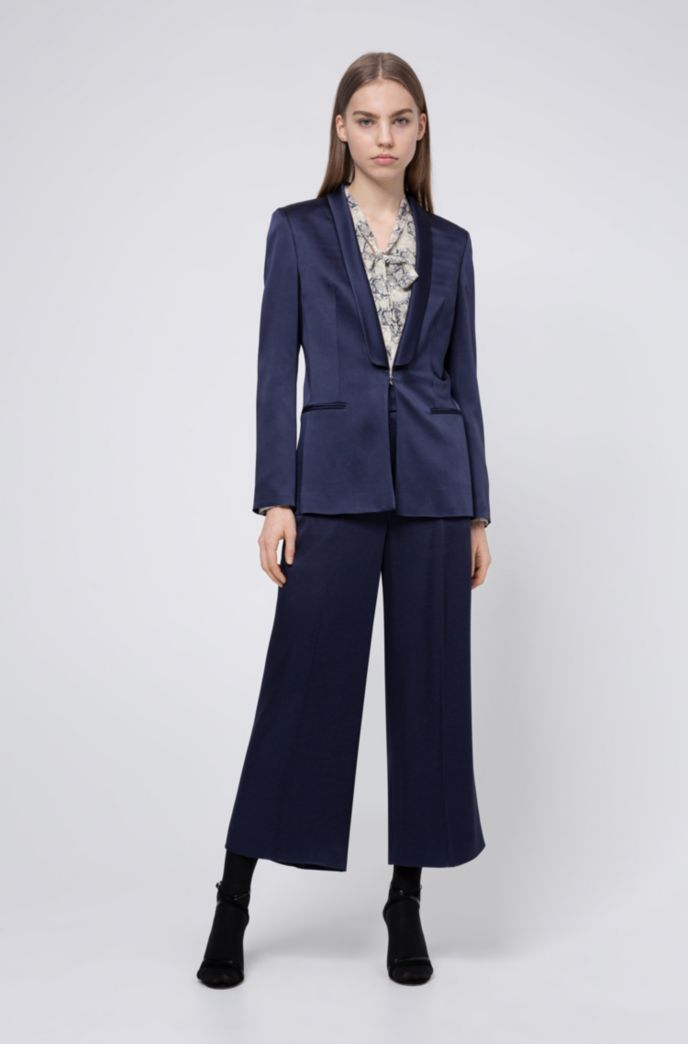 Regular-fit pants with high-rise waistband