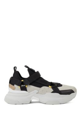 Hybrid sneakers with webbed-tape details, Light Grey