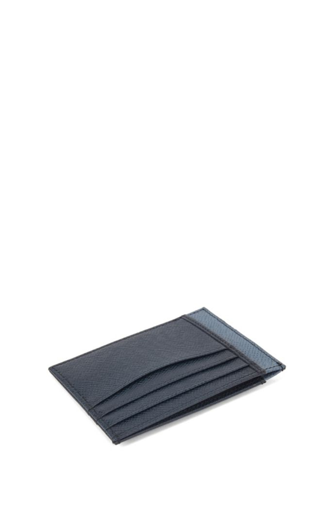 Two-tone card holder in palmellato leather