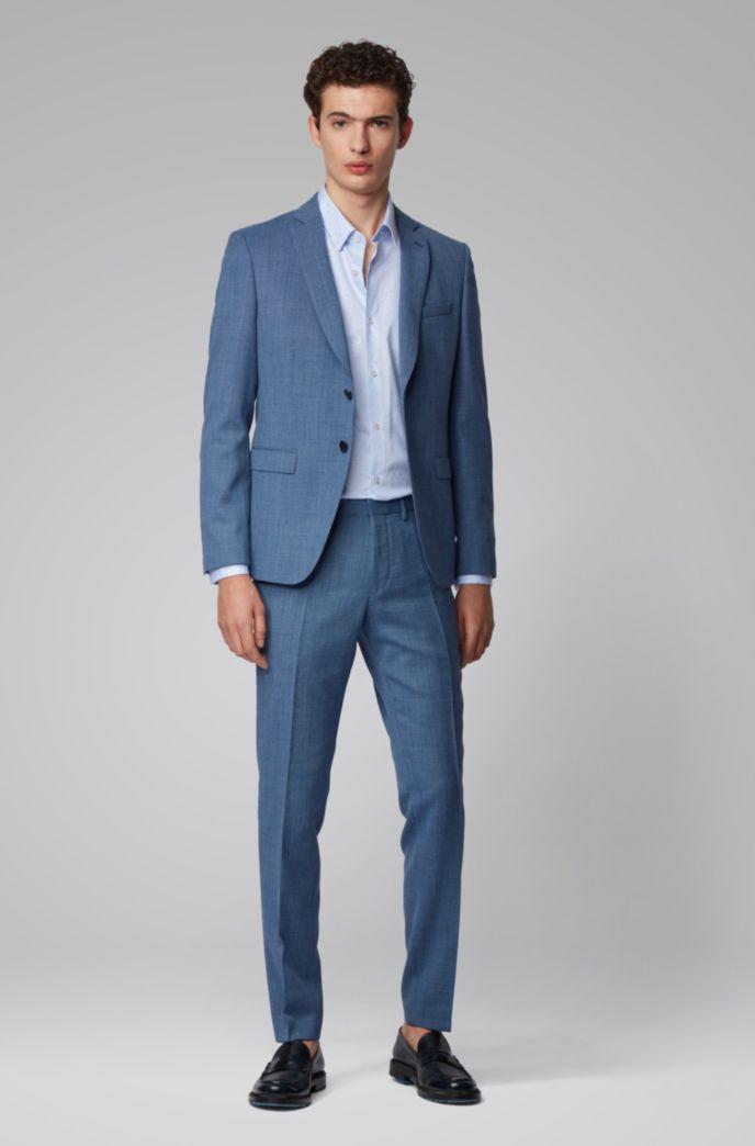 Slim-fit shirt in fil-coupé cotton