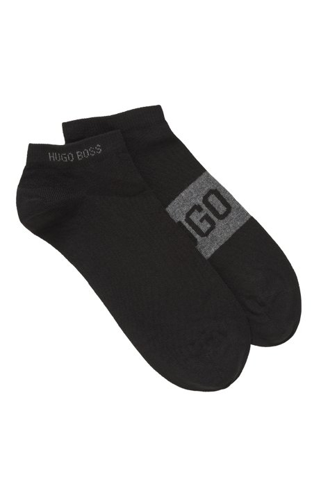 Two-pack of socks in a stretch-cotton blend, Black