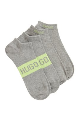 Two-pack of socks in a stretch-cotton blend, Silver