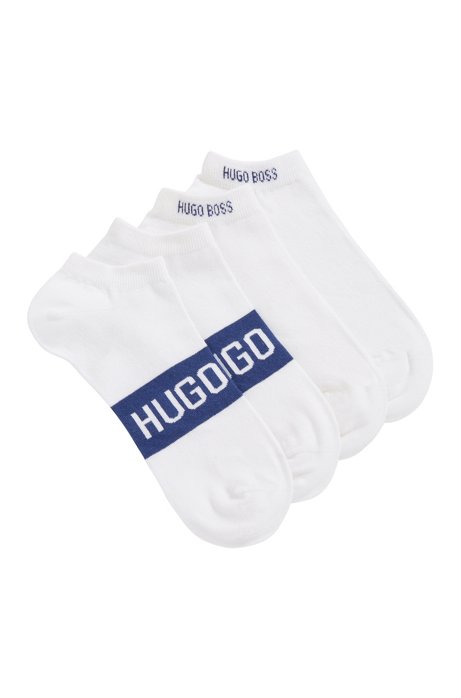 Two-pack of socks in a stretch-cotton blend, White