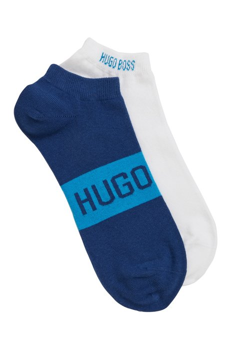 Two-pack of socks in a stretch-cotton blend, Light Blue