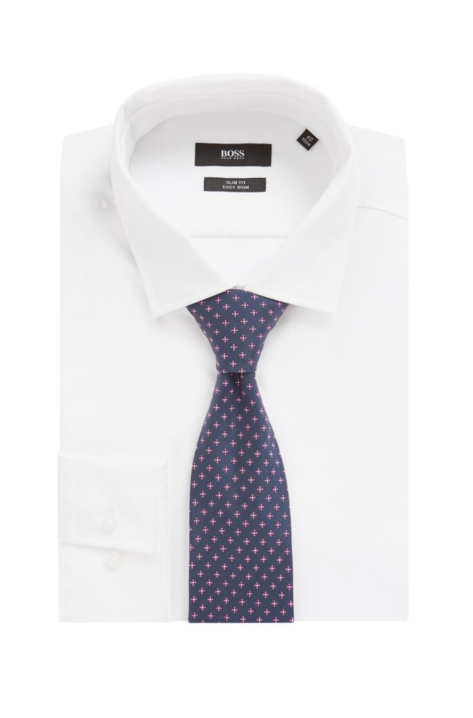 Jacquard tie with all-over micro pattern