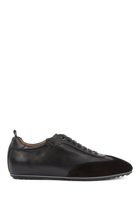 Oxford shoes in suede and leather, Black