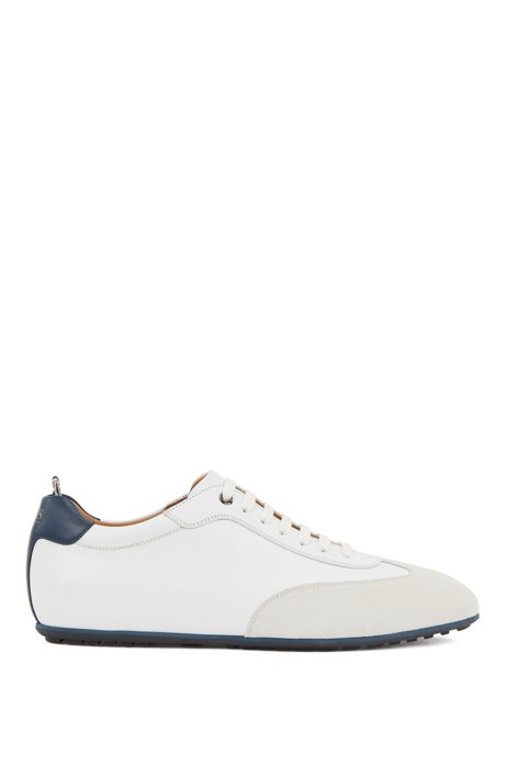Oxford shoes in suede and leather, White