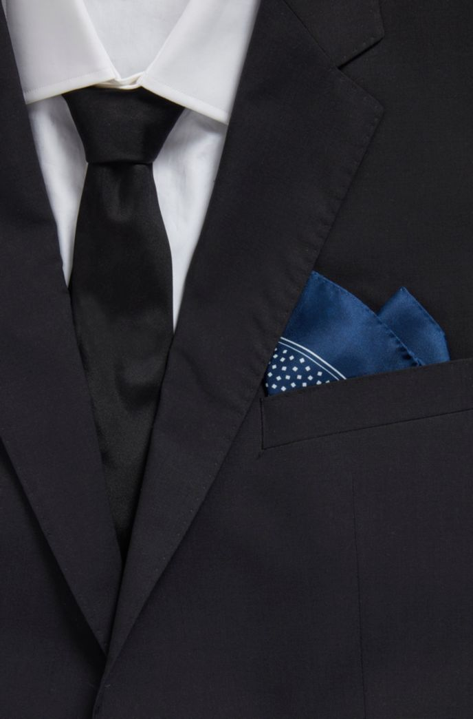 Silk pocket square with all-over digital print