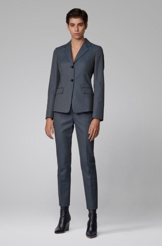 Regular-fit jacket with jacquard-woven monogram motif