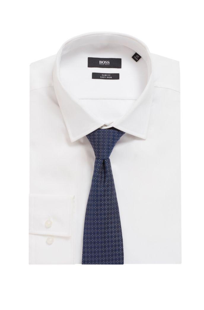 Italian-made tie in jacquard-woven silk