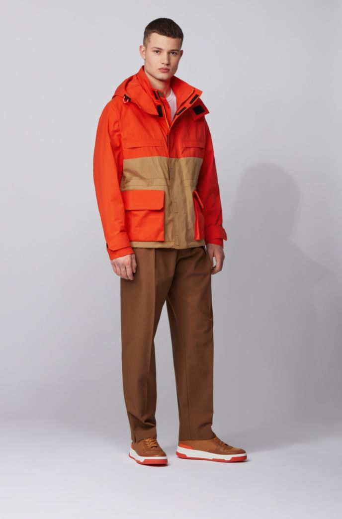Regular-fit jacket in water-repellent waxed cotton