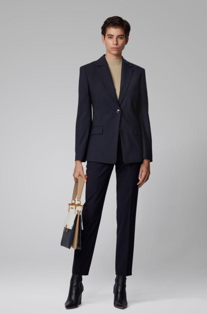 Slim-fit jacket in traceable stretch virgin wool