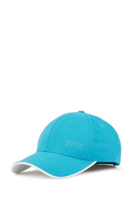 Cotton-twill cap with contrast under visor, Light Blue