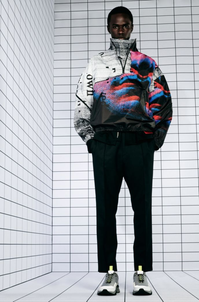 Relaxed-fit windbreaker jacket with graphic print