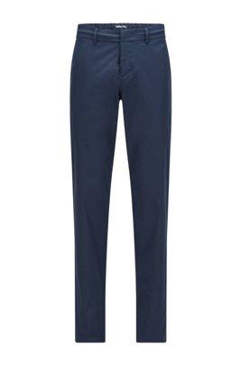 Pantalon Slim Fit en twill technique déperlant, Bleu foncé