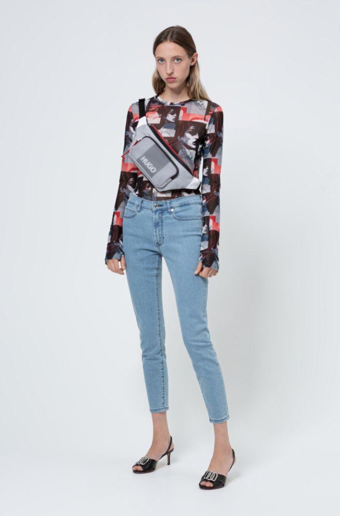 CHARLIE super-skinny-fit jeans in magic-flex light-blue denim