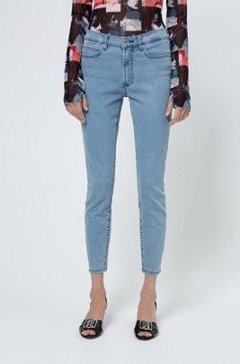 CHARLIE super-skinny-fit jeans in magic-flex light-blue denim, Turquoise