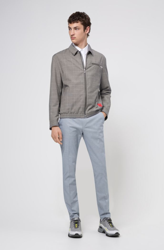 Extra-slim-fit pants in two-tone birdseye stretch cotton