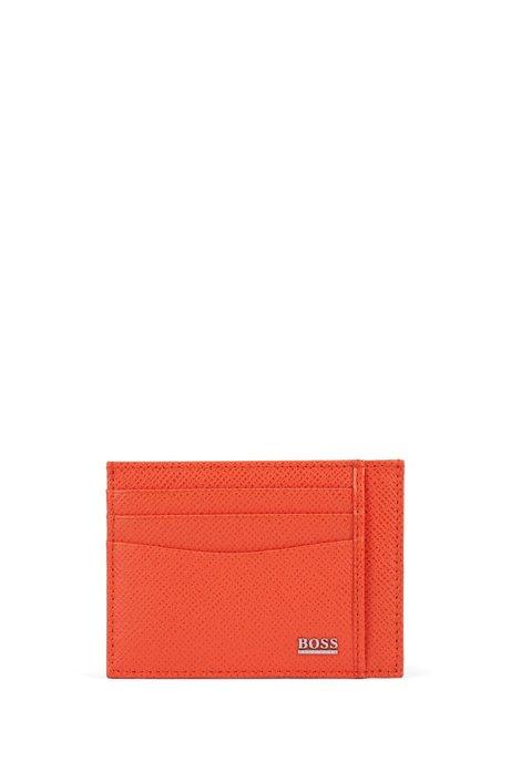 Signature Collection card holder in palmellato leather, Orange