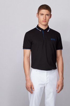 Polo de golf Active Stretch avec fibre S.Café®, Noir