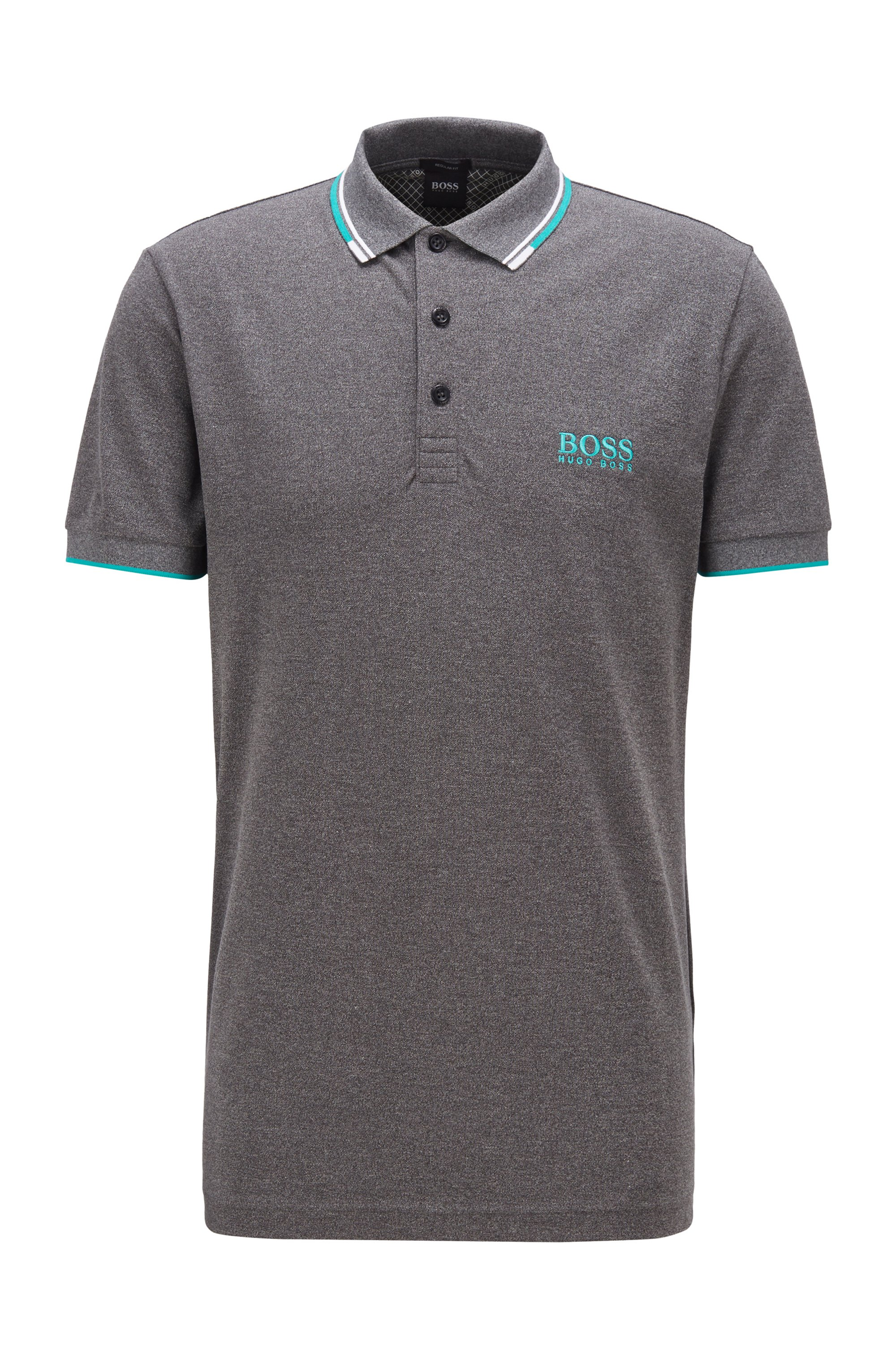 Polo de golf Active Stretch avec fibre S.Café®, Noir