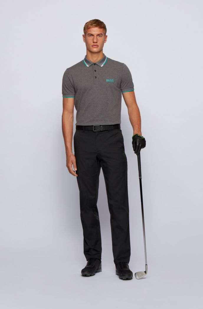 Active-stretch golf polo shirt with S.Café®