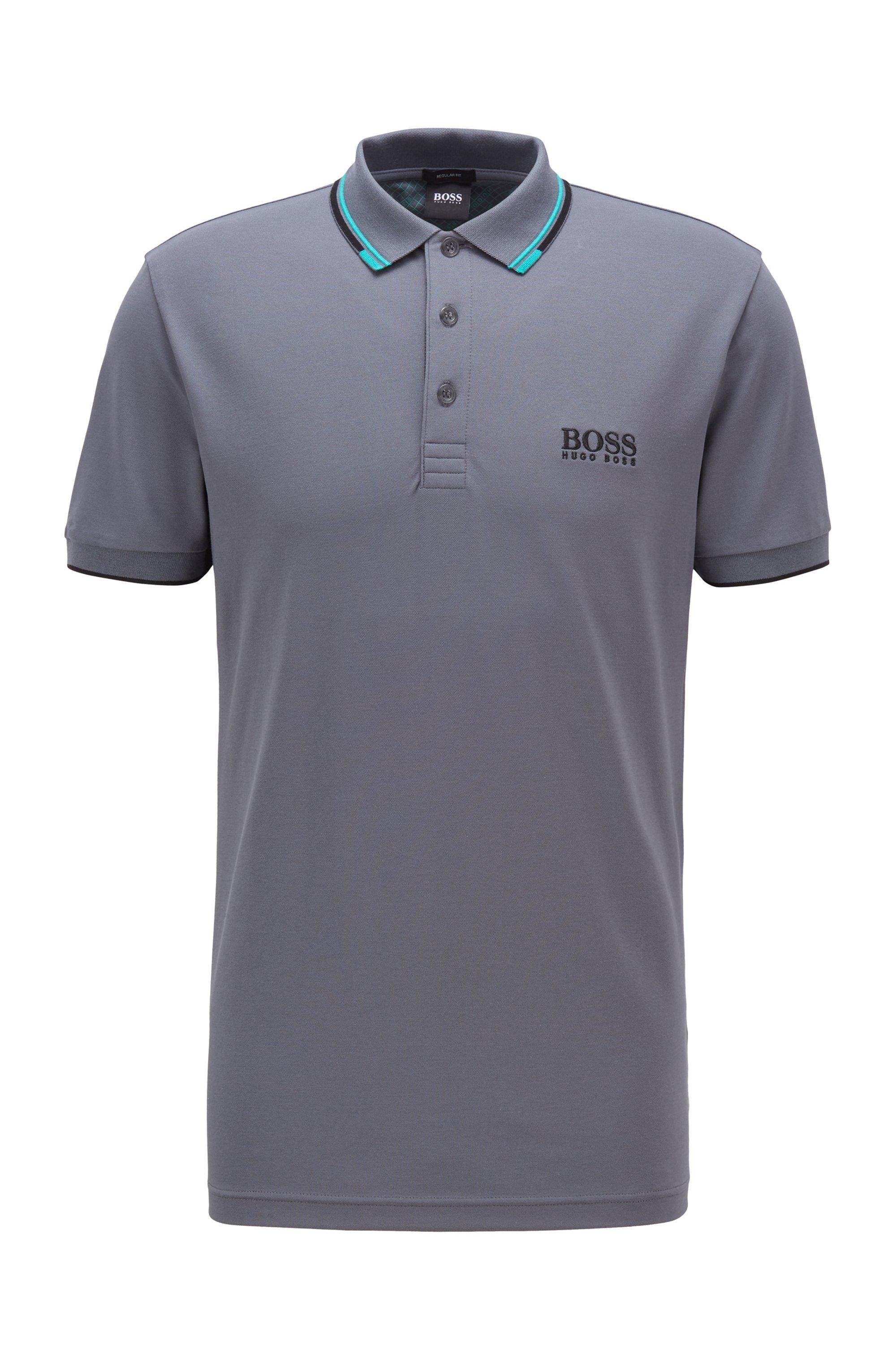Polo de golf Active Stretch avec fibre S.Café®, Gris sombre