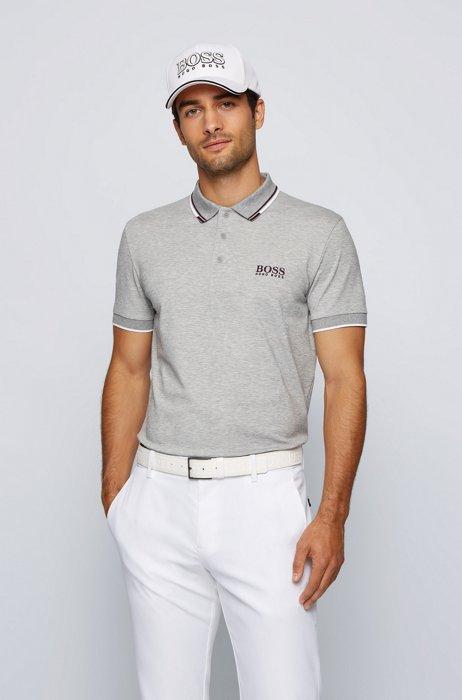 Active-stretch golf polo shirt with S.Café®, Light Grey
