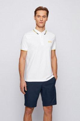 Polo de golf Active Stretch avec fibre S.Café®, Blanc