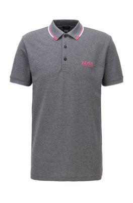 Active-stretch golf polo shirt with S.Café®, Open Grey