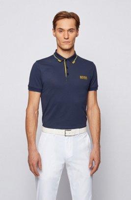 Polo de golf Active Stretch avec fibre S.Café®, Bleu foncé