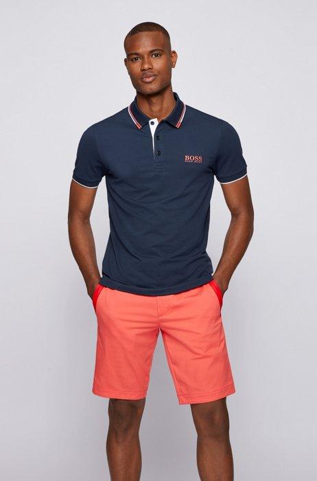 Active-stretch golf polo shirt with S.Café®, Dark Blue