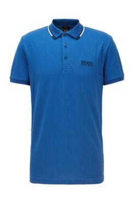 Active-stretch golf polo shirt with S.Café®, Light Blue