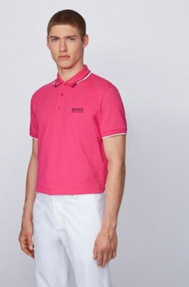 Active-stretch golf polo shirt with S.Café®, Pink