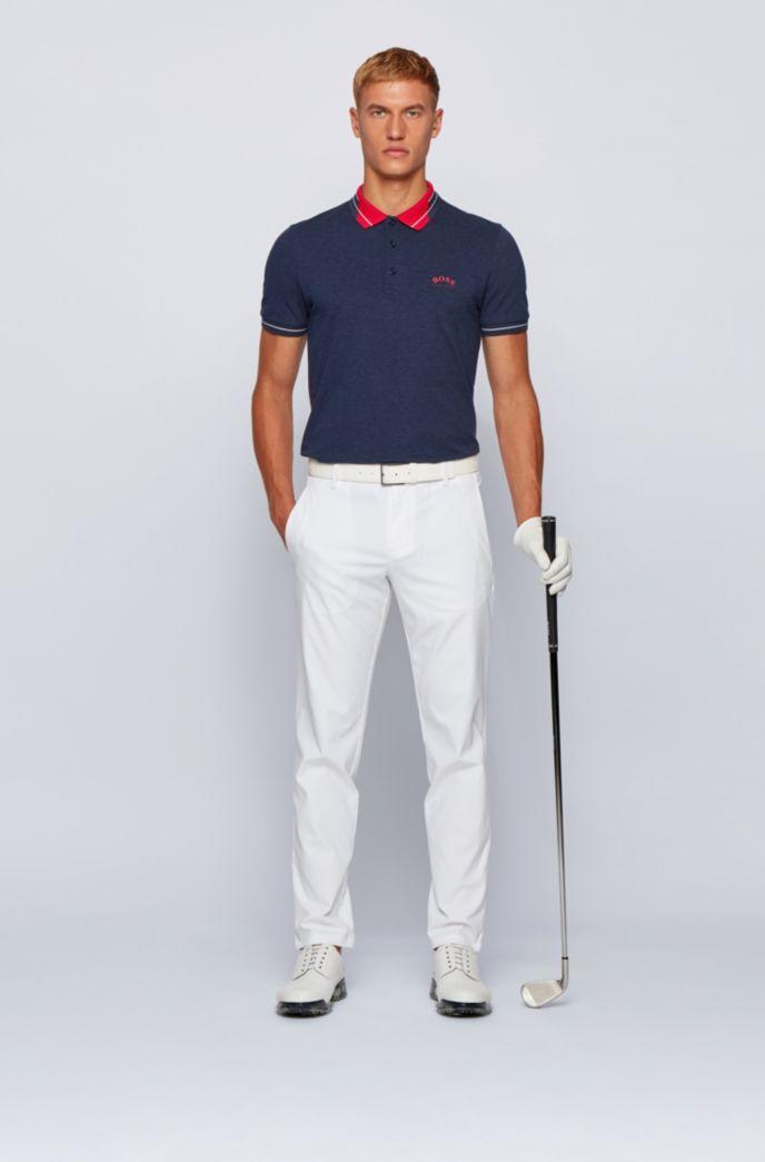 Logo-collar slim-fit polo shirt in S.Café® fabric