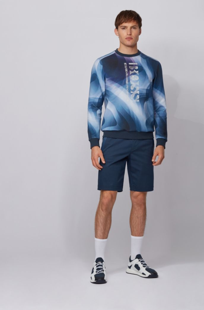 Slim-fit sweatshirt with all-over digital print