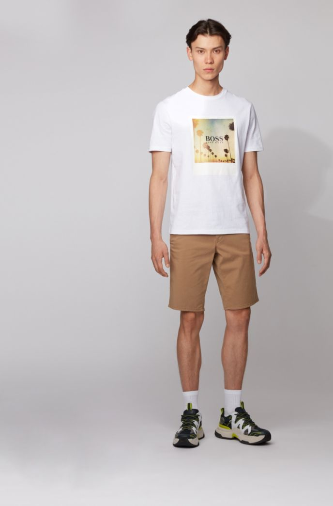 Slim-fit chino shorts in lightweight stretch-cotton twill