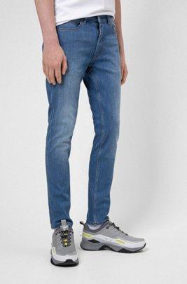 Extra-slim-fit jeans in comfort-stretch blue denim, Blue