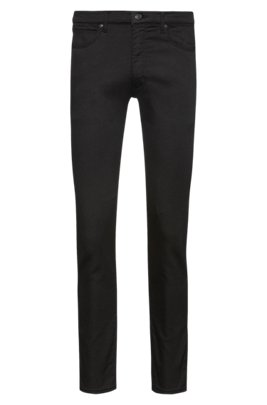 Skinny-fit jeans in Stay Black stretch-jersey denim, Black