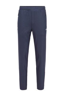 Pinstripe-detail jogging pants in S.Café® fabric, Dark Blue