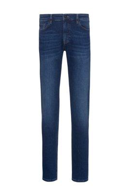 Slim-fit jeans in indigo super-stretch denim, Dark Blue