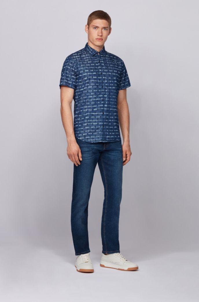 Slim-fit jeans in indigo super-stretch denim
