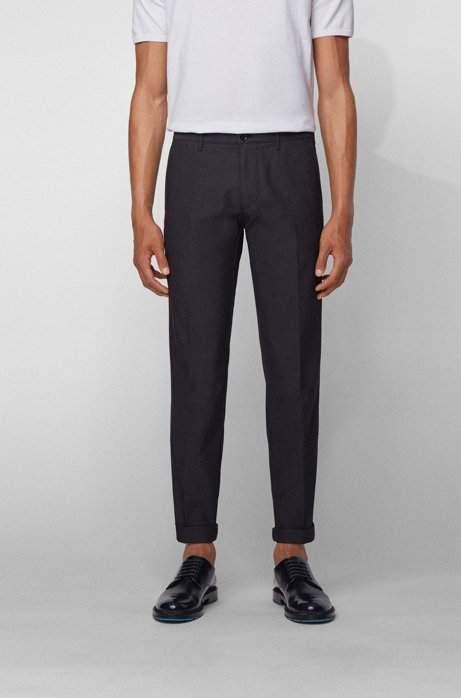 Regular-fit chinos in a stretch-cotton blend, Dark Blue